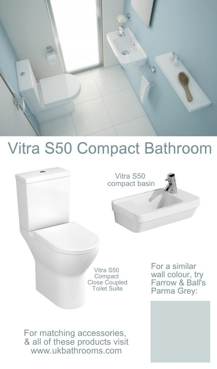 exactly what we want under the stairs!    The Vitra S50 Compact Bathroom.  All products available from UK Bathrooms www.ukbathrooms.com