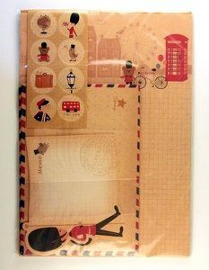 London UK letter set (Guard)  - available at www.stationeryheaven.nl