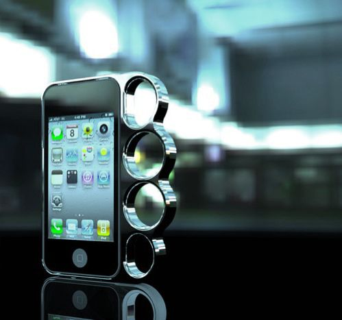Brass knuckle iPhone case YES