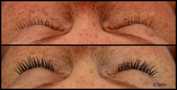 Short and natural looking lashes by Terhi