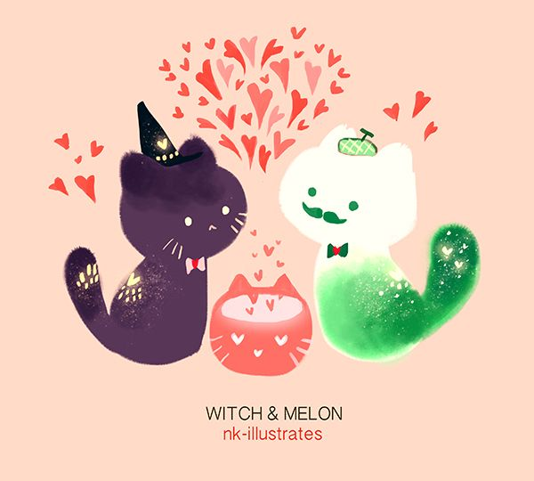 Witch & Melon     © 2016 Nadia Kim     Series of illustrated gifs.                                            © Copyright Protected. DO NOT...