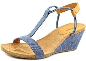 Style&Co. Style & Co Mulan Women Open Toe Synthetic Blue Wedge Sandal.