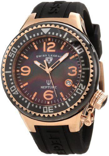 Swiss Legend Women`s 11844-BKBRA Neptune Black Mother-Of-Pearl Dial Watch
