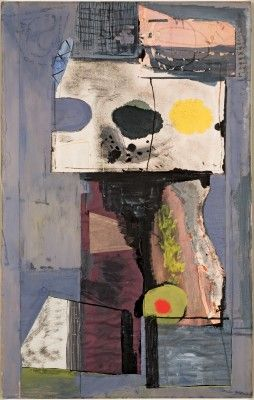 Robert Motherwell Personage (Autoportrait), December 9, 1943, Gouache, ink, and Japanese paper collage on paperboard.