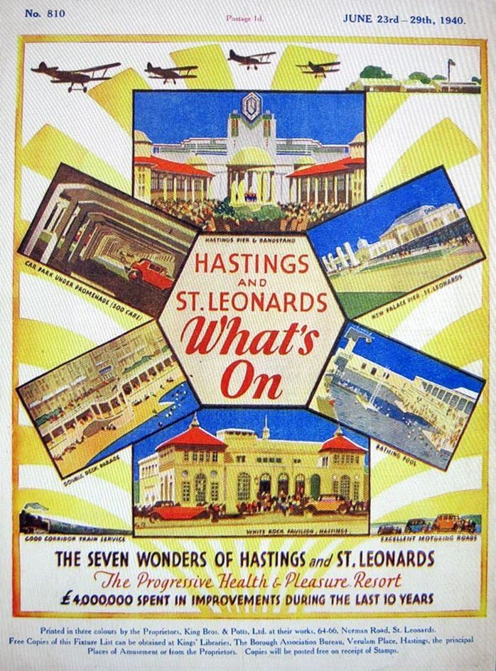 'Hastings and St. Leonard's, What's on' - Vintage promotional poster (1940)