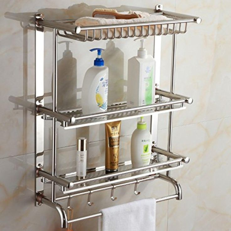 Thick Towel Rack Bathroom Hardware Accessories Stainless Steel Towel Rack Bathroom Shelf,A50Cm - Brought to you by Avarsha.com