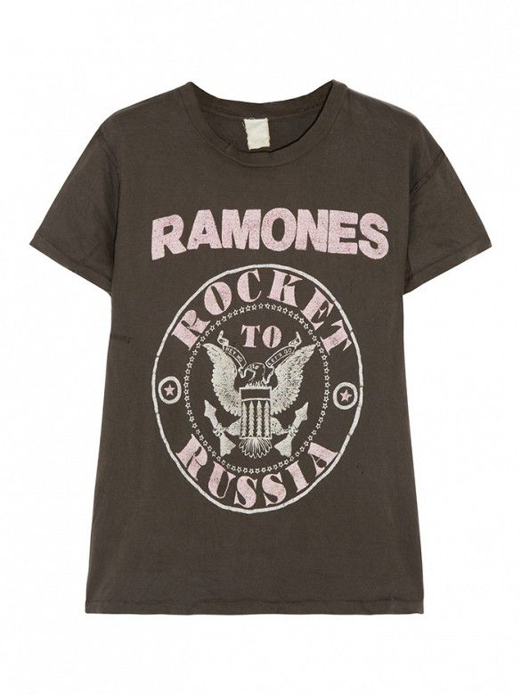 Finds + MadeWorn Ramones Distressed T-Shirt