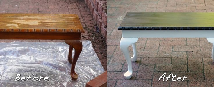 table makeover before and after