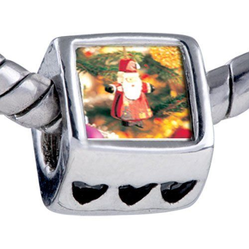 Pugster Bead Santa Tree Ornament Beads Fits Pandora Bracelet Pugster. $12.49. It's the photo on the heart charm. Bracelet sold separately. Unthreaded European story bracelet design. Hole size is approximately 4.8 to 5mm. Fit Pandora, Biagi, and Chamilia Charm Bead Bracelets