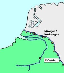 Bij les 2 Kaartje van Nederland in de Romeinse tijd