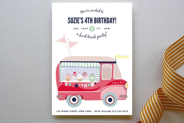 Food Truck Party Children's Birthday Party Invitat... | Minted