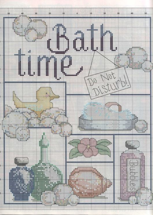 93 best images about cross stitch bathroom on pinterest for Bathroom cross stitch patterns free