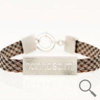 The original collection by designer Nanna Salmi Horsehair bracelet Nanning, Ribbon 9mm