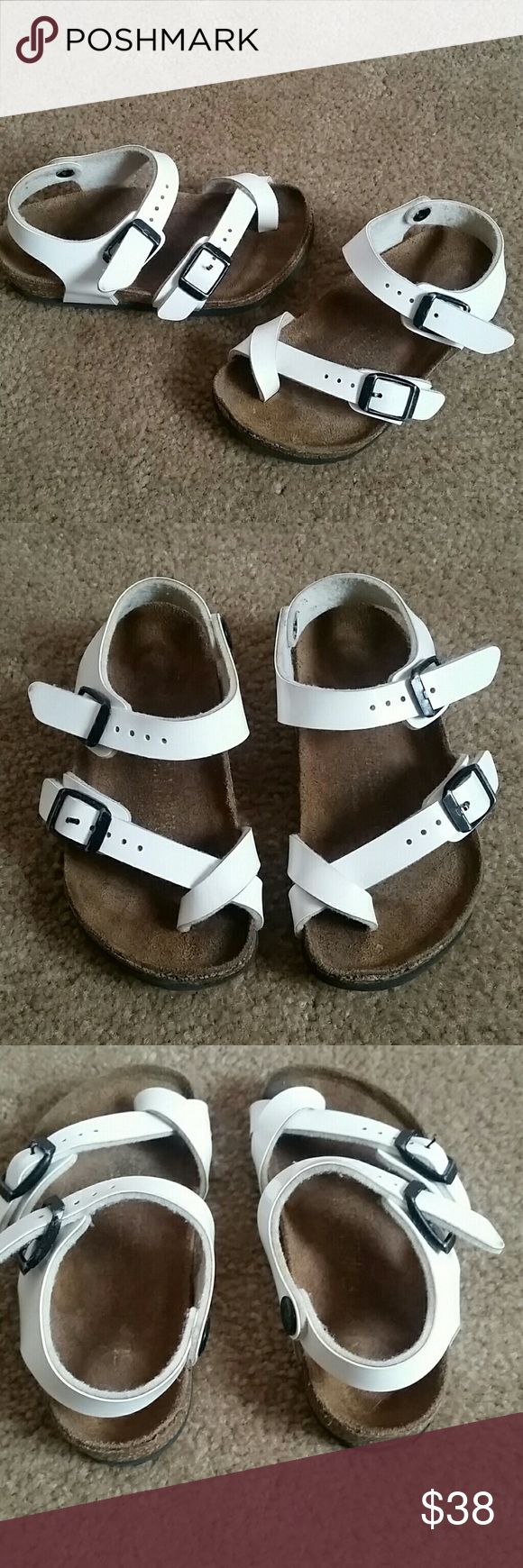 Toddler birkenstocks These are the most adorable sandals I have ever seen, unfortunately too small for my little princess. White patent.  Size 24 Birkenstock Shoes Sandals & Flip Flops