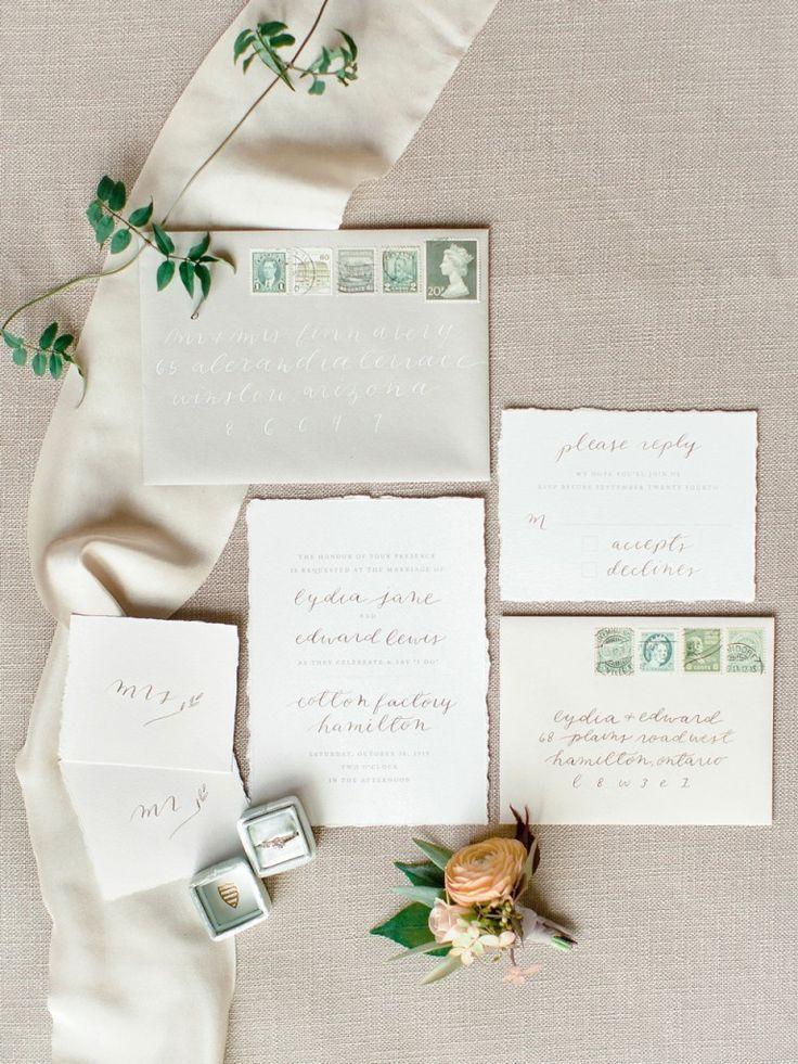 wedding invitations atlanta%0A Autumn Elegance  Green Wedding InvitationsWedding