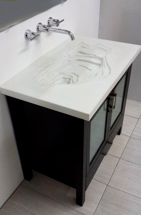 Concrete Top Vanity Desk : Best bathroom ideas images on pinterest