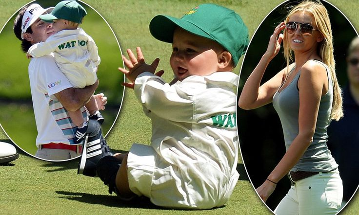 Bubba Watson shows off his adorable baby boy as he prepares to defend his Masters title while Wayne Gretzky's starlet daughter turns heads supporting her golfer boyfriend