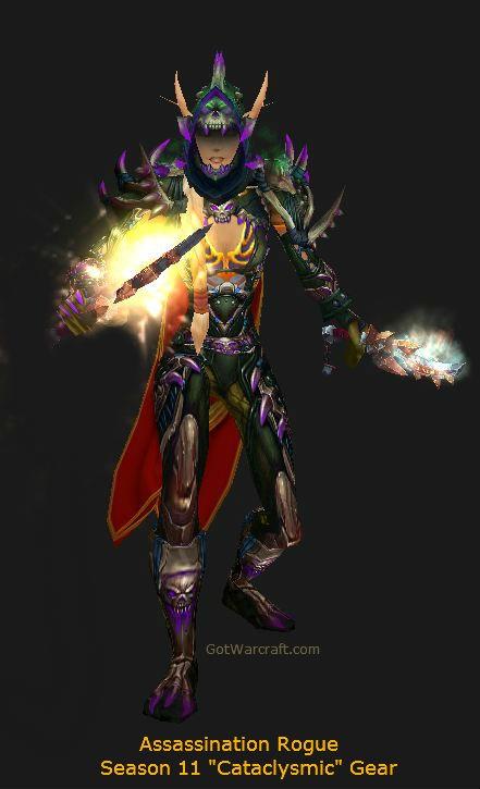 Blood Elf Assassination Rogue in Season 11 PvP Gear - #warcraft