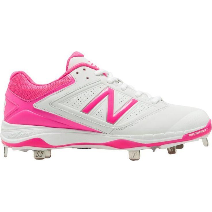 New Balance Women's 4040 V1 Pink Metal Baseball Cleats, Size: 9.5