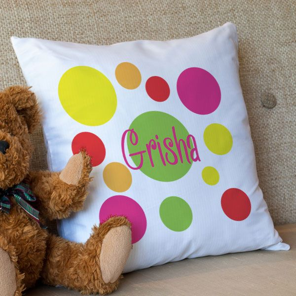 Pretty Polka © Personalized Luxury Filled Cushion Cover