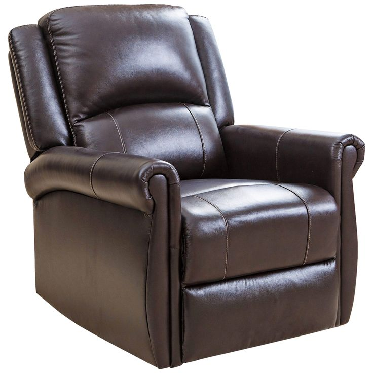 Nursery Brown Bonded Leather Swivel Glider Recliner Chair - Style # 9G856