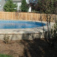 American Leisure Pool Supplies - Build a paver wall around your above ground pool.