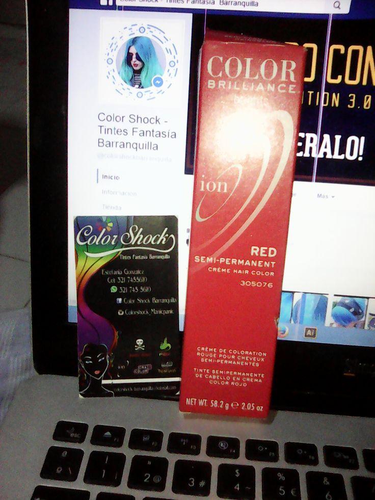 Color Brillance ion red, recomendado de la tienda virtual Color Shock Barranquilla/Colombia