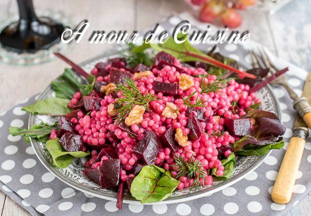 Salade de couscous perlé aux betteraves - Amour de cuisine