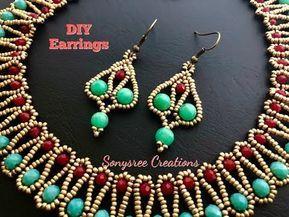 Beaded Earrings Easy Way..DIY Beaded Earrings – YouTube