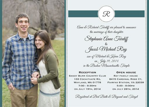 Jacob U0026 Stephanie Front   Utah Announcements. Simple Wedding InvitationsUtah