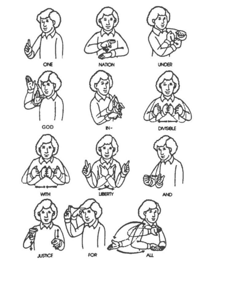 how to speak english sign language