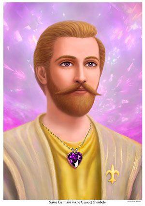 Ascended master Saint Germain- hearts center.  Copyright by Tom Miller