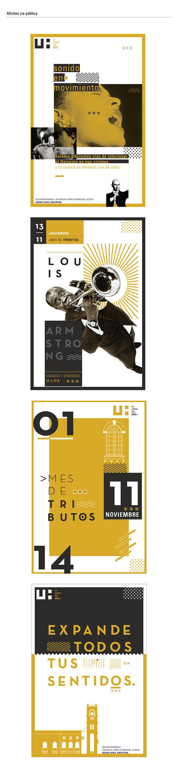 """Usina del Arte"" Istitutional Image, (2014), Poster public roads - ArtDesign, Graphic by Sebastián Dana (b. ,Argentina)"