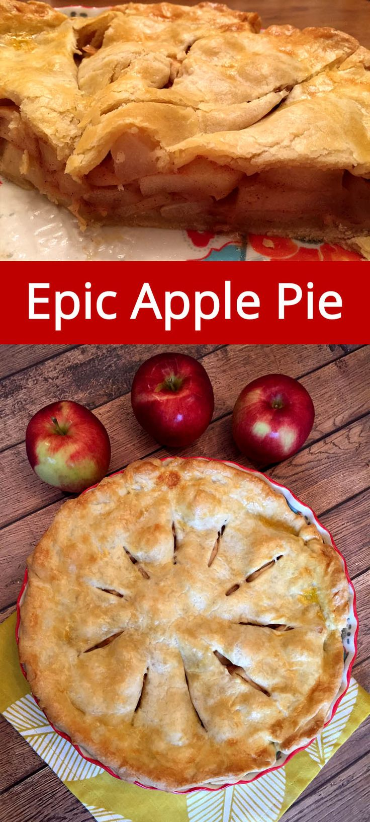 Best Apple Pie Recipe Ever!  This is my go-to apple pie recipe, it's so easy and delicious! | MelanieCooks.com