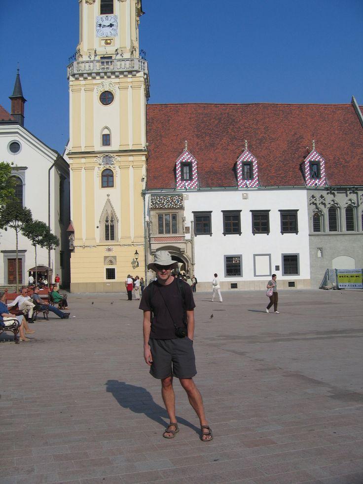 Posing in Bratislava