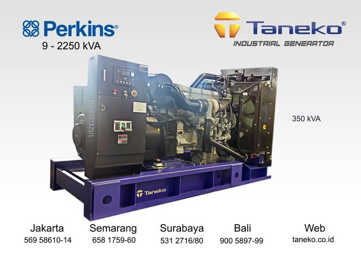 At frame : Genset Perkins 350 kVA Open Type. Perkins 2206C-E13TAG2 coupled with Stamford HC.I 444 E1 , 350 kVA Prime Power Quality Generator Product from Taneko For Your Industrial Needs, CALL US NOW
