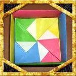 折り紙の箱の折り方!4枚でおしゃれでかわいい箱の作り方