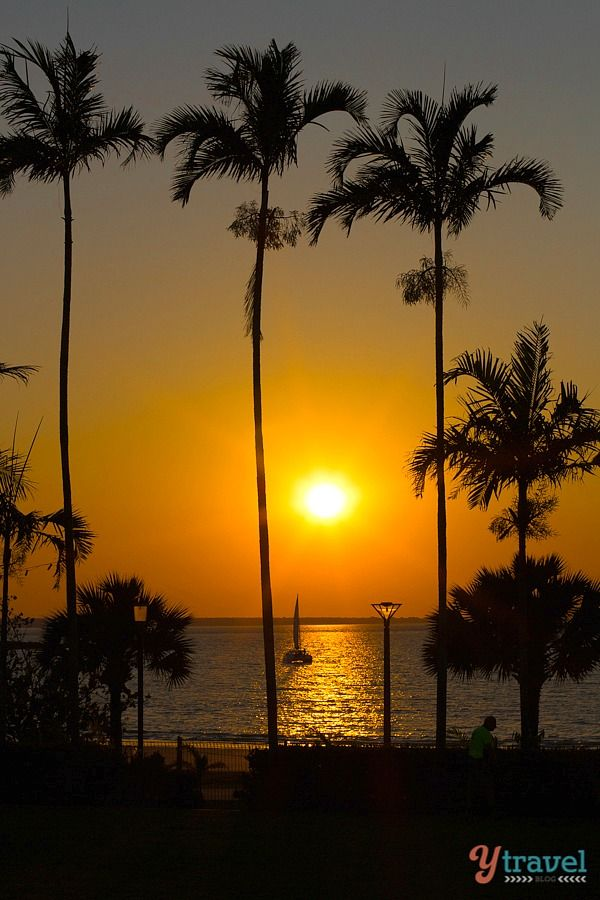 Sunset over Mindil Beach in Darwin, Northern Territory, Australia