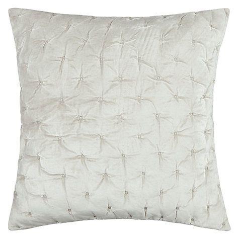 Buy John Lewis Velvet Stitch Cushion Cover, Frost Online at johnlewis.com