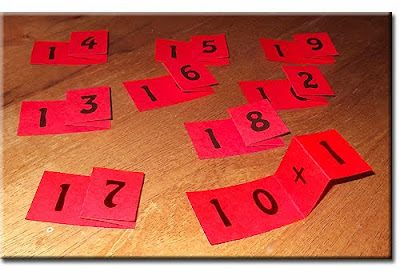 Folding Place Value Teens Free Printable