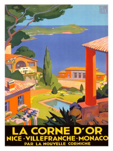 Vintage Travel Poster - South of France & Monaco