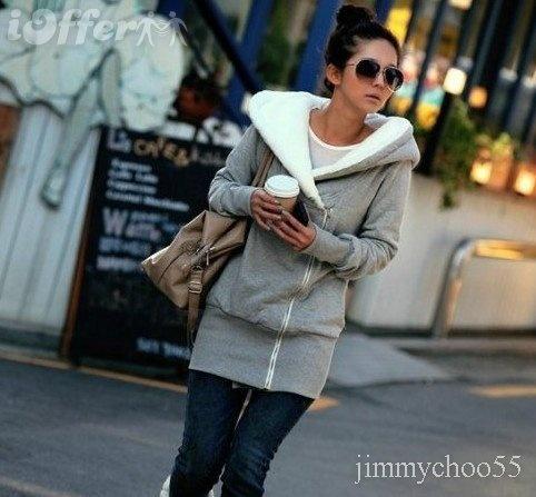 Women's Hoodies Sweatshirts Fleece Hooded Long thick