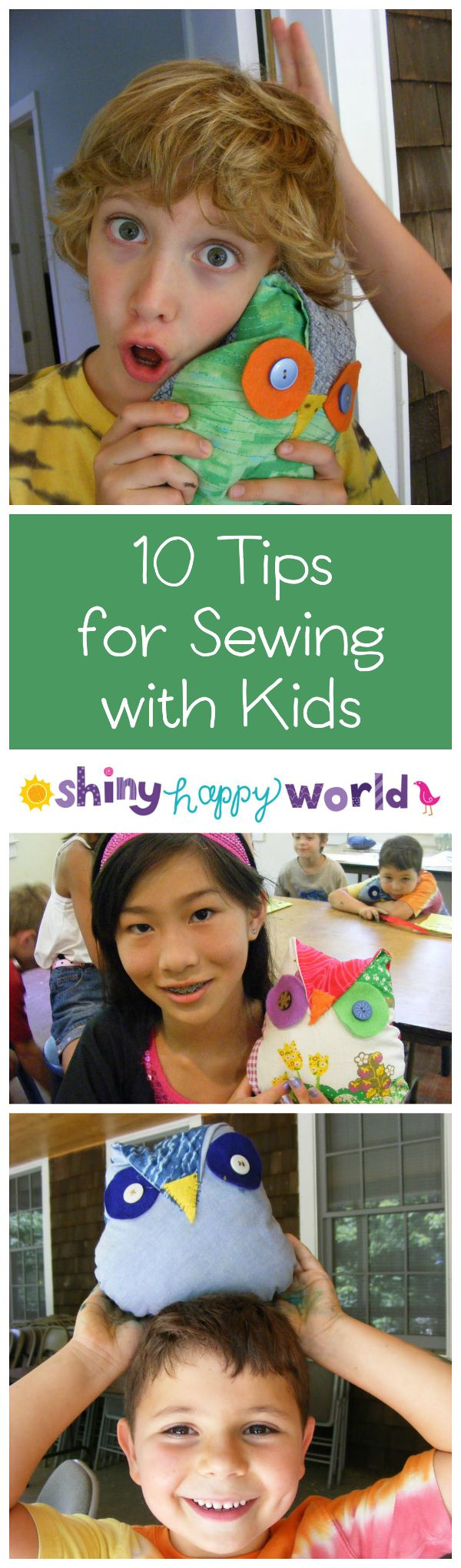 10 Tips for Sewing with Kids from Shiny Happy World