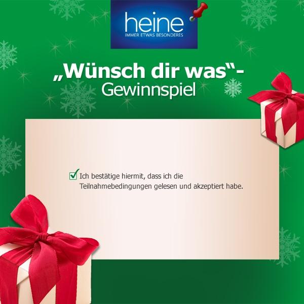 Bestätige deine Teilnahme am Gewinnspiel, indem du das Teilnahmebedingungen-Pin repinnst.  Teilnahmebedingungen: http://www.heine.de/is-bin/INTERSHOP.enfinity/WFS/Heine-HeineDe-Site/de_DE/-/EUR/MG_ViewTemplate-View?Template=lp_teilnahmebedingungen_gewinnspiel_pinterest
