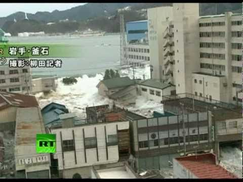 2011 Japanese Earthquake and Tsunami: As survivors of the Japanese earthquake and tsunami grappled with the enormity of the devastation, more footage emerged on Sunday showing the moment the tsunami struck Japan's northeast coast. Residents of the port town of Kamaishi in Iwate prefecture watched in horror as the first huge tsunami waves hit, sweeping away cars and buildings.