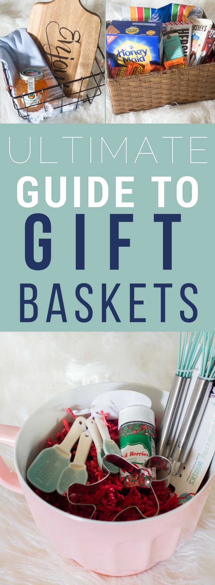 The ultimate guide to gift baskets - tons of creative gift basket ideas for everyone on your list. via @chelseacoulston