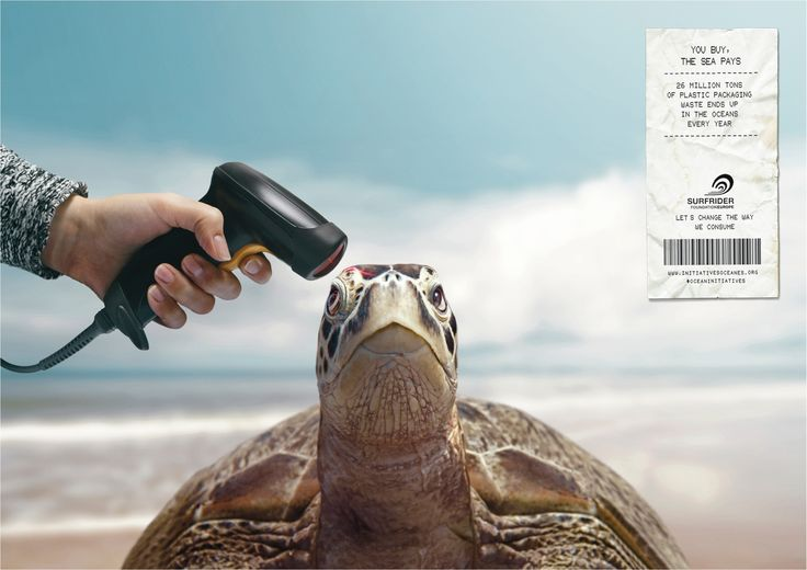 You buy, the sea pays. 26 million tons of plastic packaging waste ends up in the oceans every year. Let's change the way we consume. Advertising