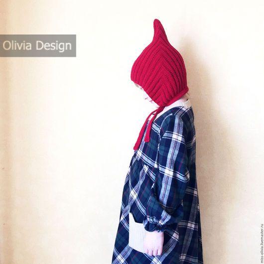 Шапки и шарфы ручной работы. Шапочка Эльф. Olivia Knit Design. Интернет-магазин Ярмарка Мастеров. Шапка, шапочка гном