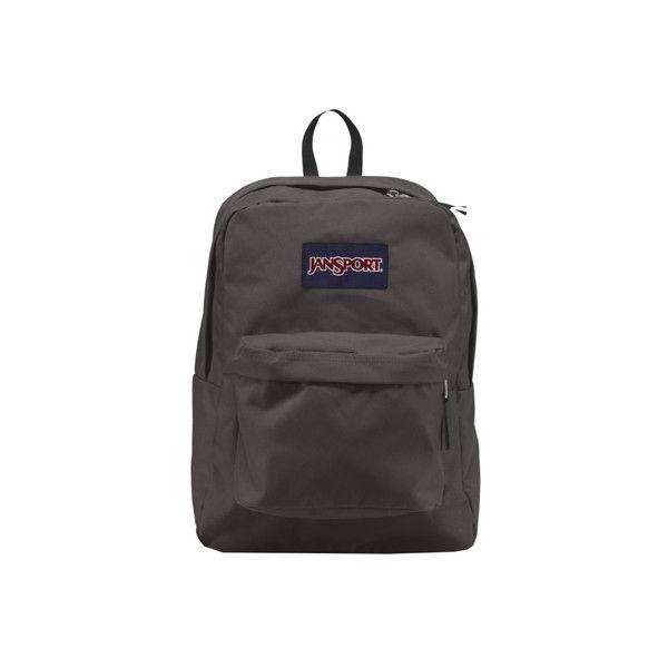 JanSport Superbreak Backpack ($35) ❤ liked on Polyvore featuring bags, backpacks, grey, grey bag, jansport bags, jansport rucksack, utility backpack and backpack bags
