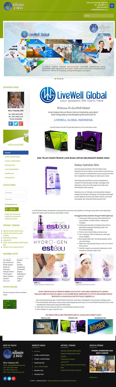 MillionaireLWG. Website bisnis profile dan B2B yang mempromosikan produk Live Well Global Indonesia.